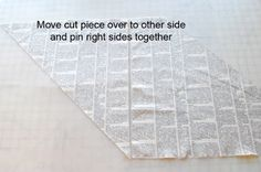 Turn one fat quarter into 4 yards - cut on bias, move triangle over, sew back together. Mark lines, make an off-center tube, sew again, then cut one long spiral.