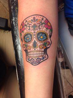 My new sugar skull tattoo.