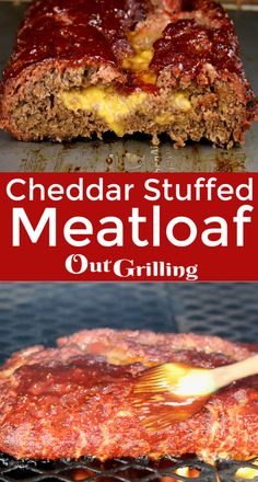 Cheddar Stuffed Meatloaf is one of the best comfort food meals that you'll ever taste. Seasoned ground beef is stuffed with cheddar cheese & barbecue sauce. Sausage Recipes, Beef Recipes, Mince Recipes, Quiche Recipes, Meatloaf Recipes, Yummy Recipes, Quick Easy Meals, Easy Dinner Recipes, Appetizer Recipes