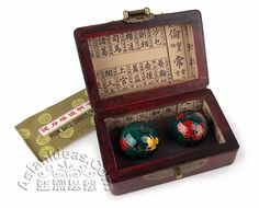 Today's Feature Product : Baoding Balls w Hardwood Gift Box.    Baoding balls, also know as Chinese stress balls, Chinese health balls, Chinese exercise balls, or even Chinese therapy balls, originated in the Chinese city of Baoding during the Ming Dynasty (1368-1644 AD). According to traditional Chinese beliefs, the vital organs of the human body are all connected to the fingers and feet.     http://www.asianideas.com/bibuthbawhag.html