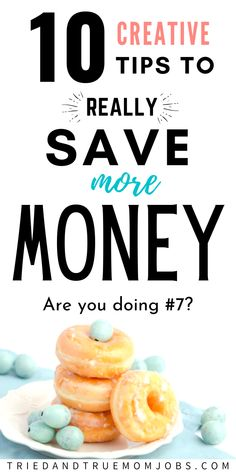 If you want to drastically save more money you don't want to miss these 10 creative tips to save more money. These tips are the key to spending less money and saving money month after month. #frugal #money #hacks #SavingMoneyTips #savingmoney