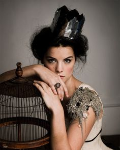 crown and birdcage (also love hair!)