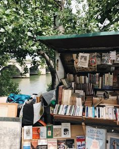 """bookbaristas: """"Never too early for a ? (at Paris, France) """" bookbaristas: """"Never too early for a ? (at Paris, France) """" This Is A Book, Love Book, For Emma Forever Ago, Pont Paris, Book Aesthetic, Summer Aesthetic, Travel Aesthetic, Book Nooks, Adventure Is Out There"""