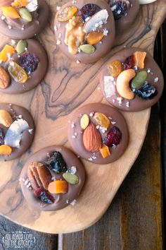 Chocolate Fruit 'n Nut Bites - Mendiants