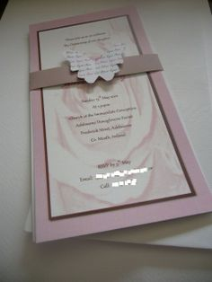 Handmade Christening Invitation - Butterfly Theme.