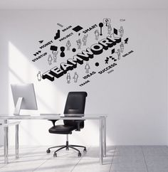 Vinyl Wall Decal Teamwork Team Office Worker Success Business Stickers Mural (ig5061)