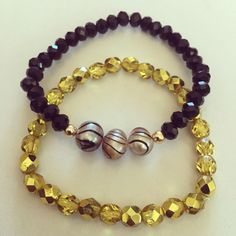 #zoecreation Siguenos en instagram #facebook #bracelets #combinations #pulseras #pearls #perlas #black #negro #gold #jewerly #pr #handmade