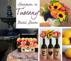 Tuscany Themed Party Ideas   Vanessa Shaffer Designs: A Tuscan Themed Bridal Shower   Party Ideas