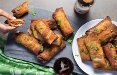 Stuff Cabbage And Corned Beef Into An Egg Roll Wrapper, Then Fry Into A Savory Roll