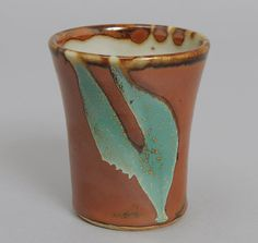 JAPANESE POTTERY: Daisei Gama Cup, Persimmon Color