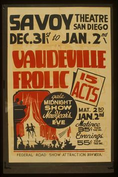 federal theater, theater, movies, advertising, federal art project, vintage, vintage posters, free download, retro prints, classic posters, graphic design, Vaudeville Frolic - Vintage Federal Theater Poster