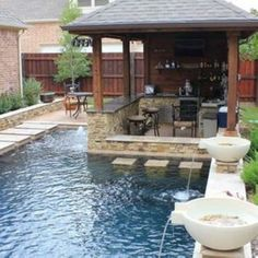 Awesome 47 Amazing Small Backyard Designs With Swimming Pool. More at http://homenimalist.com/2018/03/03/47-amazing-small-backyard-designs-with-swimming-pool/