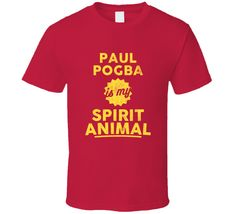 Paul Pogba Is My Spirit Animal Manchester United Player T Shirt