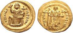 Byzantine Empire AV Solidus ND 602AD Constantinople Mint Maurice Tiberius/ Consular Isse