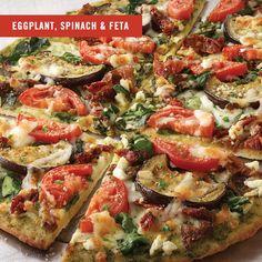 Unos Eggplant, Spinach & Feta Flatbread - 440 Cal 1/2 Flatbread ...