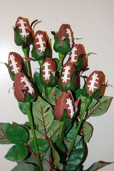 football corsages for homecoming maybe?? too cute