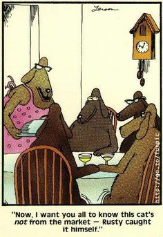 Far side comics, far side cartoons, cartoon jokes, funny cartoons, funny cat Cartoon Jokes, Funny Cartoons, Cartoon Art, Far Side Cartoons, Far Side Comics, The Far Side Gallery, Gary Larson Far Side, Gary Larson Cartoons, Funny Thoughts