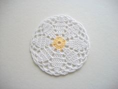 Four Crochet Coasters or Little Doilies by HandcraftedorVintage