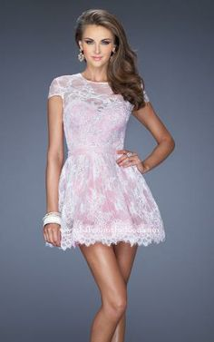 Short Prom Dresses With Lace Sleeves - Long Dresses Online