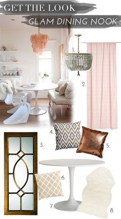 Interior Get The Look: Glam Dining Nook