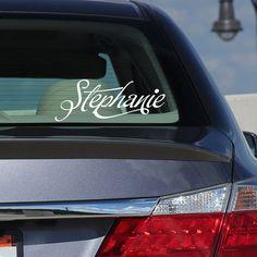 Personalized car monogram window or wall monogram by EllyStudio