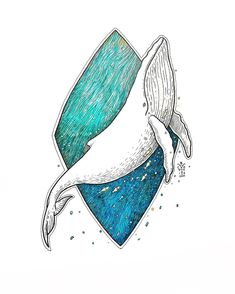 Humpback Whale in Turquoise gradation... . . . . . . . #draw #drawing #illustration #art #illustrations #artwork #whale #artofdrawingg #traditionalartist #traditionalart #penandink #blackworknow #artsy #illustrate #ink #marker #drawingoftheday #artshare #dotworkers #worldofartists #artzspiration #artcollective #art_conquest #bali #bacht