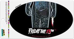Friday The 13th Poster, Car Magnets, Refrigerator, Refrigerators