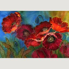 Beautiful Giclee Print from original silk painting. SilkByLena.