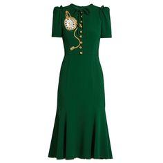 Pocket Watch-Appliqué Crepe Midi Dress Dolce & Gabbana Midi Dress Kate Middleton
