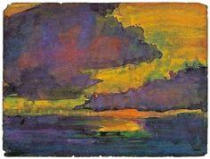 "apoetreflects: "" Painting: Emil Nolde, Abendlicher Himmel, 1920 """