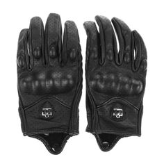 15b71a08b Men Motorcycle Gloves Outdoor Sports Full Finger Motorcycle Riding  Protective Armor High Quality Black Short Leather Gloves -in Gloves from  Automobiles ...