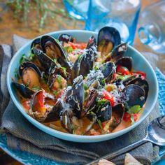 Swedish Recipes, Clams, Kung Pao Chicken, Ratatouille, Chili, Chutney, Love Food, Seafood, Beverages