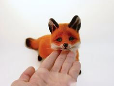 Fox Felted MADE TO ORDER Beautiful foxes Needle by SvetlanaToys