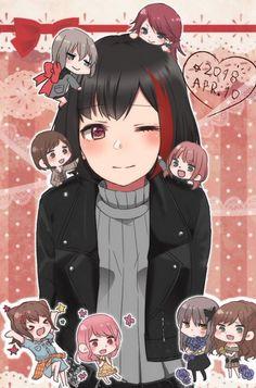 I Love Games, Moca, Anime Wolf, Girl Bands, Manga Girl, Black Hair, Cool Girl, Otaku, Anime Art