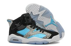 "d8cfb895c99253 Find Girls Air Jordan 6 Retro ""Leopard Print"" Black Blue White For Sale  Lastest online or in Pumarihanna. Shop Top Brands and the latest styles  Girls Air ..."