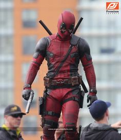 Ryan Reynolds Deadpool leather jacket the villain who is always ready to strike a pose.