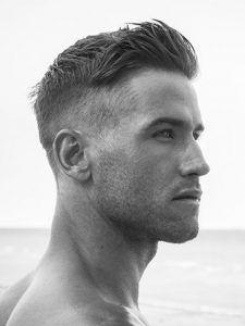 Coupe cheveux visage fin homme