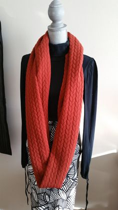 UNISEX fashion  Burnt orange Infinity Scarf, Accessories, Winter, Fall, Warm weather, Infinity Scarf , Toronto, Knit, wraps, gifts, by AmshinaApparel on Etsy