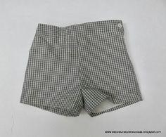 short-niño-a sin bolsillos, con cremallera, totalmente forrado