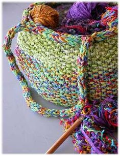 KNIT a yarn basket!