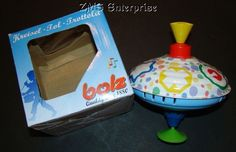 New BOLZ Classic Tin Humming Spinning Top 16 cm #Bolz