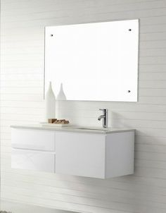 Manisa 1200 Wall Hung White Bathroom Vanity Soft Closing Modern Vanities For Luxury Bathrooms By