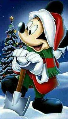 (notitle) - Minnie y Mickey❤ - Mickey Mouse Christmas, Mickey Mouse And Friends, Mickey Minnie Mouse, Walt Disney, Disney Fun, Mickey Mouse Wallpaper, Disney Wallpaper, Christmas Scenes, Christmas Art