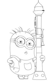 minions coloring pages of phil - photo#19