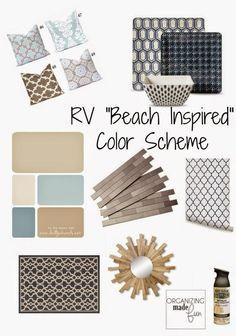 "RV ""Beach Inspired"" Color Scheme Board :: OrganizignMadeFun.com"