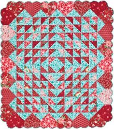 Hearts Afloat is a good name for this quilt.
