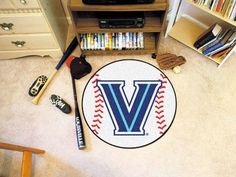 "Villanova University Baseball Mat 26"" diameter"