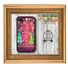 Holiday Tree iPhone Case, Hard Plastic iPhone Case, Fits iPhone 4, iPhone 4s & iPhone 5