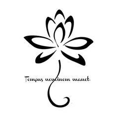 Tattoo Flor de Loto & El tiempo no espera a nadie! !!