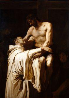 Francisco Ribalta - Cristo abrazando a San Bernardo - 1624-27